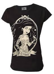 darkside mermaid t shirt nautical skull pin up 8 10
