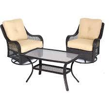hampton lynnfield 5 piece patio conversation set with gray