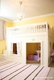 a princess bedroom with a loft bed hometalk