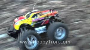 rc monster truck videos off road 1 16 electric rc monster truck demo video from hobbytron