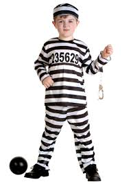 cop halloween costume toddler prisoner costume