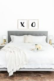the perfect way to decorate above your bed u0027x and o u0027 prints now