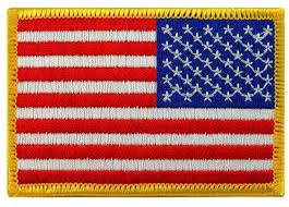 Why Is The American Flag Backwards On Uniforms Amazon Com American Flag Embroidered Patch Reverse Gold Border