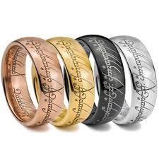 the one ring wedding band ring laser graphic tungsten carbide ring scratch free