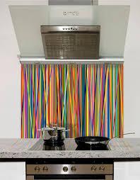 colour stripes printed glass splashback from diysplashbacks co uk