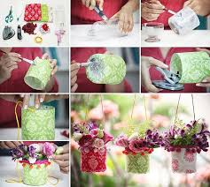 How to DIY Pretty Outdoor Hanging Plastic Bottle Vases Fab Art DIY