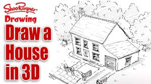 how to draw a house in 3d bird u0027s eye view youtube
