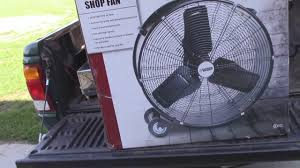 12 volt fan harbor freight harbor freight 24 shop fan youtube
