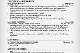 Clerical Sample Resume by Clerical Sample Resume One Page Format Reentrycorps
