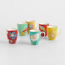 letterpress mugs set of 4 world market