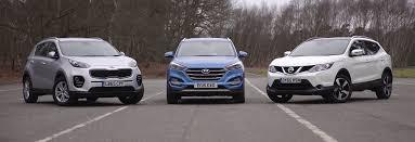 nissan suv 2016 price hyundai tucson nissan qashqai kia sportage group test carwow