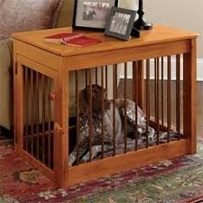 How To Make End Table Dog Crate by Dog Kennel Furniture Foter
