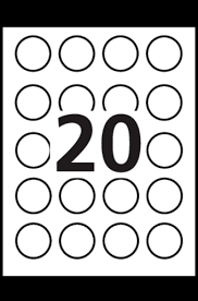 avery high visibility round labels 8293 template 20 labels