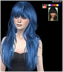 sims 4 blue hair the sims 4 women s long hair