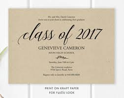 graduation announcements template graduation invite etsy