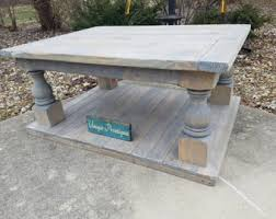 Baluster Coffee Table Balustrade Table Etsy