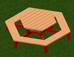 octagon picnic table plans with umbrella hole furniture hexagon picnic table kit instructions childrens plans