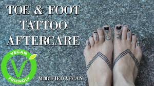hand poked toe u0026 foot tattoo aftercare youtube