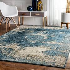 nuloom accent rugs 7 10 x 11 2 blue kitchen