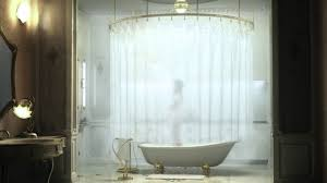 alluring round shower curtain rod natural bathroom ideas