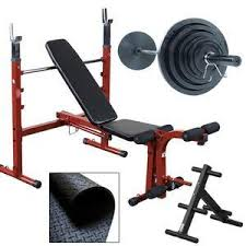 Olympic Bench Set With Weights Weight Benches Adjustable Incline Decline U0026 Flat Benches