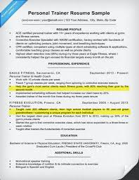 Sample Resume For Fitness Instructor by Resume Example For Personal Trainers Write A Complait