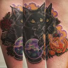 black cat tattoo neo traditional поиск в google tattoos
