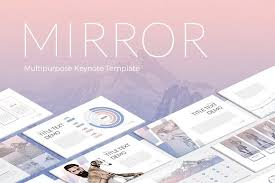 mirror modern keynote template presentation templates creative