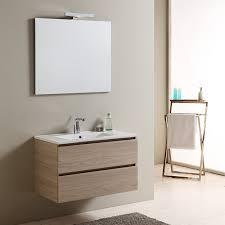 bagno mobile mobile bagno con lavabo in ceramica a due cassetti larghezza 80 cm