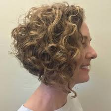 angled curly bob haircut pictures wavy angled bob haircuts