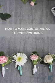 How To Make Boutonnieres Make This Diy Boutonniere For Your Wedding Day Curbly