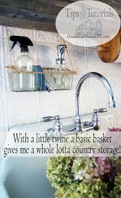 Little Country Kitchen by Kitchen Organizing A Hanging Basket That Has Changed My Life