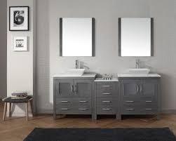 virtu usa dior 82 double bathroom vanity set in zebra grey