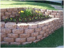 backyards bright retaining wall multi level retaing with plants