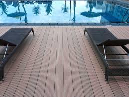 pool decking private villa yogyakarta kayu komposit wpc decking