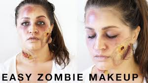halloween easy zombie makeup tutorial taylor made
