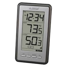 Patio Clock And Thermometer Sets by Lacrosse Technology Led Indoor Outdoor Thermometer Walmart Com