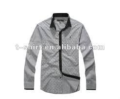 tshirts design sell slim fit sleeve mens formal dress shirts design