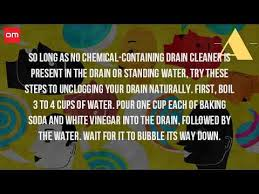 Standing Water In Bathtub How Do You Unclog A Bathtub Drain Naturally Youtube