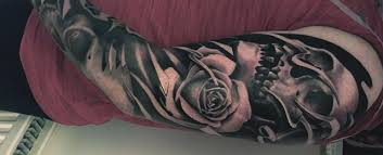 50 skull sleeve tattoos for masculine design ideas