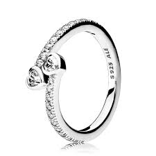 Pandora Wedding Rings by Pandora Forever Hearts Clear Cz Ring Pancharmbracelets Com