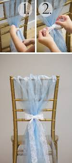 how to make chair sashes 6 ways to create chair sashes with organza rolls linentablecloth