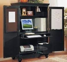Black Computer Armoire Solid Wood Computer Armoire Decor
