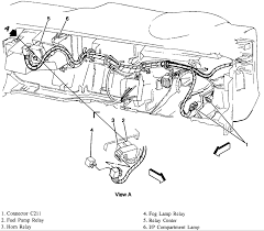 i need to know where the horn relay is located on a 1996 gmc