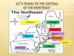 northeast united states map with states and capitals united states lesson plan
