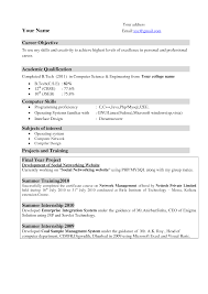 Resume For Ca Articleship Training Resumes Objectives Examples Resume Objective Examples
