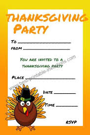 thanksgiving invitations free printable invites