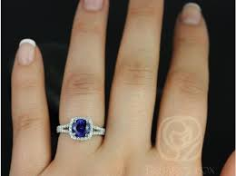 7mm ring rosados box pasley 7mm 14kt white gold blue sapphire and