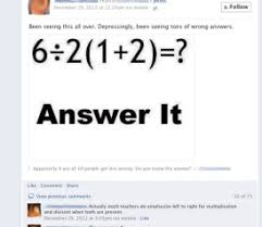 Math Problem Meme - facebook math problem why pemdas doesn t always give a clear answer