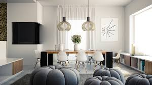 elegant dining room design with modern lights as the main